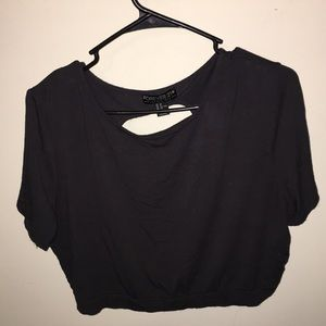Forever 21+ 2X Exposed Back Crop Top